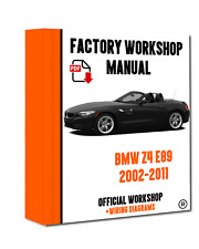 OFFICIAL WORKSHOP Manual Service Repair BMW Series Z4 E89 2009-2016