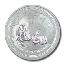 Australia Year of the Rabbit 50¢ 2011  1/2 oz .999 Silver Coin BU