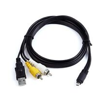 2in1 Usb +A/V Tv Cable For Fujifilm Finepix Av220 Av225 Av235 S4200 S4380 Camera