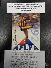 1995 SELECT MVP 1992 SENSATION CARD NO. 11 JASON DUNSTALL