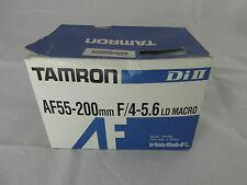 Tamron AF55-200mm f/4-5.6 LD Macro Lens Boxed MINOLTA FIT