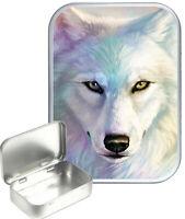 White Wolf Gift Box,Gift Tin, 30ml Small Tin,Pill Tin,Storage