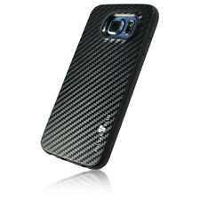 PULSARplus® Samsung Galaxy S6 Hülle Handy Case Schutzhülle Carbon Cover Schwarz