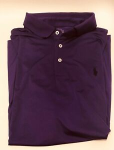 NWT Polo Ralph Lauren Performance Polo Shirt Purple Classic Fit Size Large