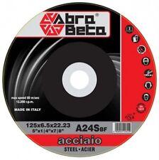 10 DISCHI TAGLIO ACCIAIO ABRA BETA  m115X1,6 Mm PER SMERIGLIATRICE
