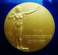 German Achievement Medal by A.M. Wolff  c. 1930 Gilt Bronze