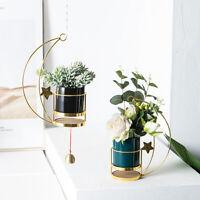 Nordic Succulent Rack Moon Flower Pot Plant Hanging Basket Wall Decor Holder