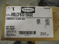 Hubbell Concrete Floor Box- NEW