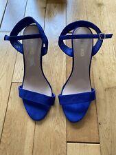 Kurt Geiger Blue High Heel Sandals, Party Shoes, Suede,Size UK 7 EU 40 Brand New