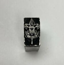 Letterpress Printers Block Boy Scouts Logo With Motto Zinc Plate Solid Metal