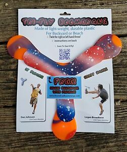 Tri-Fly Boomerang: as seen on Dude Perfect- Includes FREE indoor boomerang