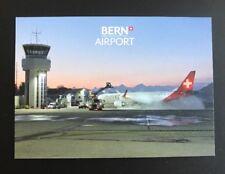 Helvetic Airways Embraer 190-100 Flughafen Bern Airport Postcard Postkarte NEW