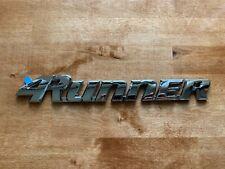 96-02 Chrome 4Runner Liftgate Nameplate Emblem Badge Logo Tailgate Rear Letter