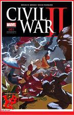 CIVIL WAR II 3 03 Mars 2017 Cover 2/2 Marvel Panini Coipel Bendis # NEUF #