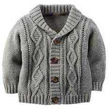 New Carter's Baby Boys' Shawl Collar Cardigan Size 9 Months