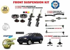 FOR VOLVO XC90 2002-> 2 FRONT SHOCKERS + MOUNTS + TRACK RODS + BALL JOINT + LINK