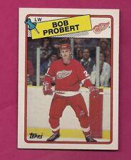 1988-89 TOPPS # 181 RED WINGS BOB PROBERT ROOKIE NRMT-MT CARD (INV# A5771)