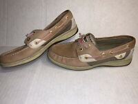 SPERRY TOP SIDER RAINBOWFISH Laceless Tan Boat Shoes 9207044 Womens Size US 7.5M