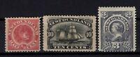 P131816/ NEWFOUNDLAND CANADIAN PROVINCES / SG # 49 – 54 – 55 MH CV 185 $