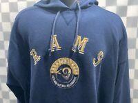 Vintage Los Angeles RAMS Football NFL Lee Sport Hoodie Jacket Size 2XL