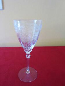 "Single Vintage 1930's Fostoria ""June Pattern"" 8 1/4"" Wine Glass"