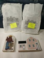 Smokey The Bear 50Th Anniversary Cat'S Meow Village Wood Piece + 1994 Collectors
