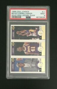 1996/97 UD Collectors Choice Gold Mini Lakers Team Set Kobe Bryant PSA 9