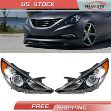For Hyundai Sonata 2011 2014 Headlight Lamps Black Housing Left Amp Right Side