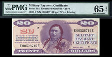 $20 Series 692  Military Payment Certificate MPC PMG 65 EPQ CERTIFIED GEM CHIEF