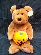 """Soo Sweet! 15""""  TY HALLOWEEN TEDDY BEAR w/ Pumpkin & Spider"""