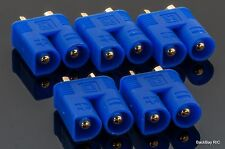 5 Pack: EC3 Male / 3.5MM Bullet Connectors Pre-Installed in Plastic Housing
