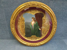 "ROYAL VIENNA PORCELAIN CHARGER FRAMED ""EROTIC"" ""MONA VANA"" WAGNER 1850-1890 RUBY"