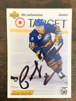 Hockey 1991-92 Upper Deck #556 ***HOF Pat LaFontaine*** Autographed Card,  NM