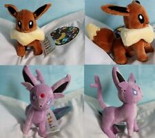 POKÉMON LOT DE 6 PELUCHES EVOLI / SET OF 6 PLUSH EEVEE ESPEON JOLTEON FLAREON