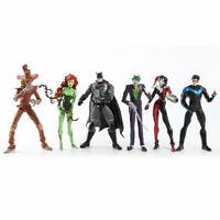 "6Pcs DC Comic Batman Joker Harley Quinn Nightwing Poison Ivy 6""Action Figure/Toy"