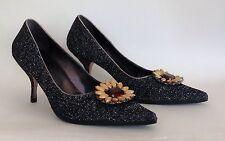 Miu Miu Black Leather Covered Larmé Stiletto Pointed Party Prom Shoes UK 3 EU 36