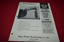 Roper Wright Post Hole Digger Dealers Brochure YABE12