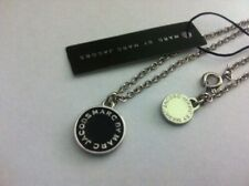 Hot Sale Marc by Marc Jacobs Black&Silver Letters Disc Necklace #N6055