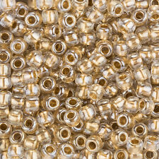 Toho Round Size 3/0 Japanese Seed Beads Gold Lined Crystal 19.5g (L95/7)