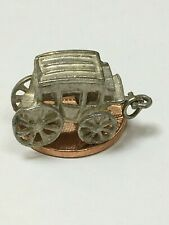 Large Vintage Sterling Silver COWBOY CARRIAGE CHARM