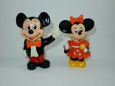 Walt Disney Mickey Mouse & Minnie Mouse Plastic Bank w/Stoppers