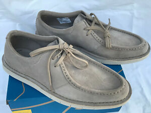 Clarks Forge Run Stone Suede 15522 Comfort Office Moc Sneakers Shoes Men's 9.5