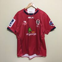 Queensland Reds BLK Rugby Jersey Mens 2XL XXL