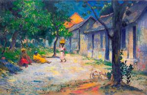 Village in Martinique by Paul Gauguin Art Print
