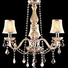 LED Rain Drop Crystal Candle Chandelier Lighting Ceiling Fixture Pendant Lamp