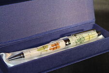 Genuine Multi-Gemstone Globe Pen in White Pearl - Great Gift - Free Shipping