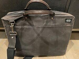 "Jack Spade black sailcloth briefcase with 15"" laptop compartment"