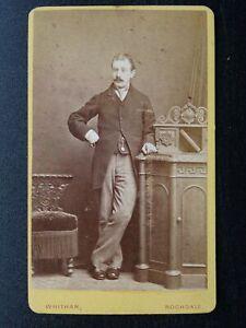 Victorian CDV Carte de Visite photograph of Gent (3) by Whitham Studio Rochdale