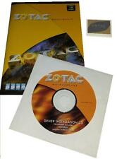 original zotac GF 9400-ITX Mainboard Treiber CD DVD + Handbuch manual + Sticker