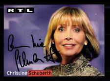 Christine Schuberth RTL Autogrammkarte Original Signiert # BC 86394